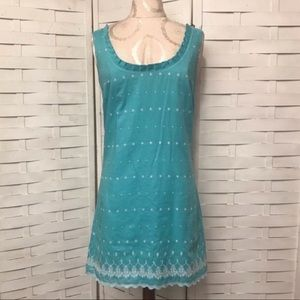 Tocca Vintage Embroidered Mini Dress